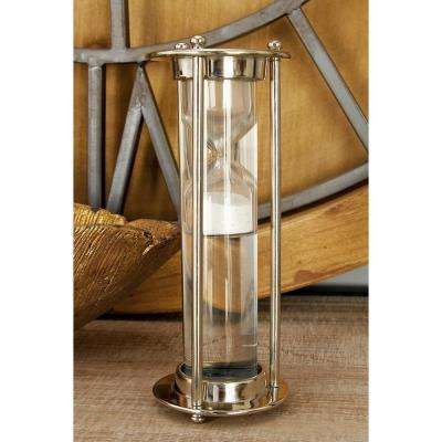 3 in. x 8 in. New Traditional Metal and Glass Floating Sand Timer