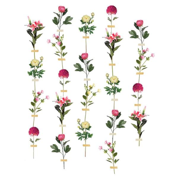 Multi Color Wallflower Wall Decal