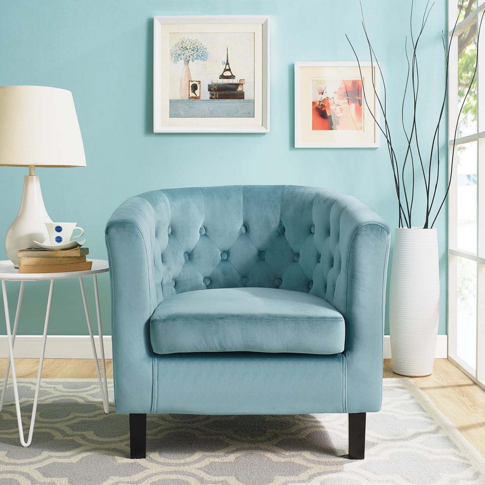 Prospect Sea Velvet Armchair