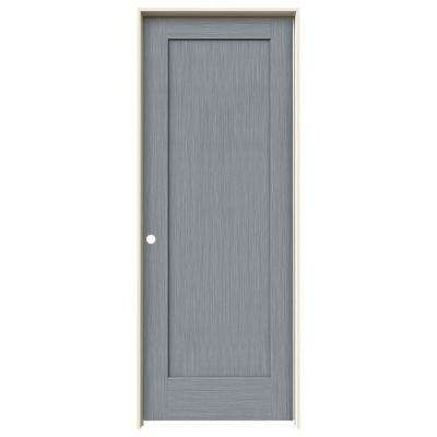 30 in. x 80 in. Madison Stone Stain Right-Hand Solid Core Molded Composite MDF Single Prehung Interior Door