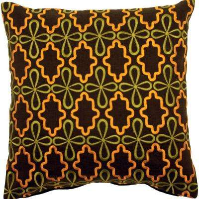 LovelyB 18 in. x 18 in. Decorative Down Pillow