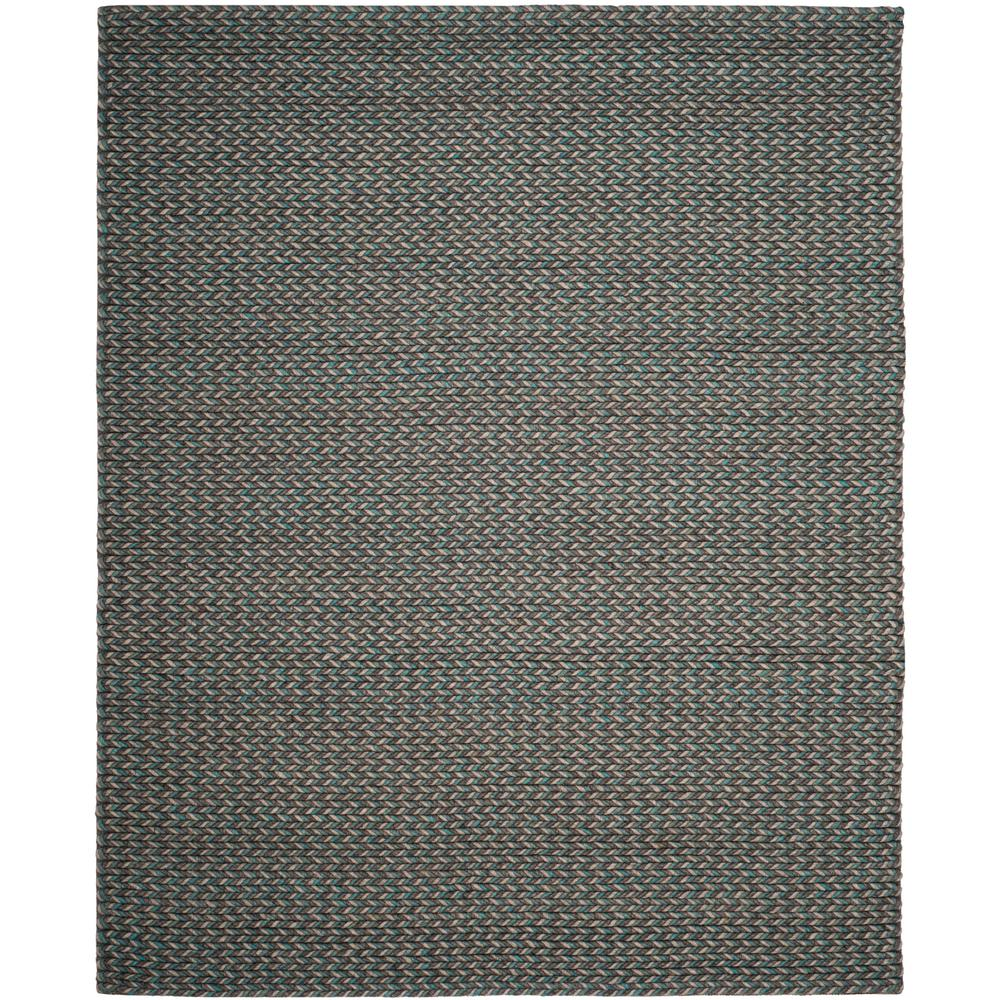 Safavieh Wyndham Turquoise Green 8 Ft X 10 Ft Area Rug: Safavieh Manhattan Turquoise/Gray 8 Ft. X 10 Ft. Area Rug