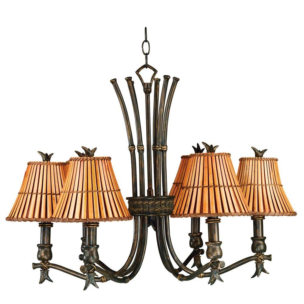 Kenroy Home Kwai 6-Light Bronze Heritage Chandelier