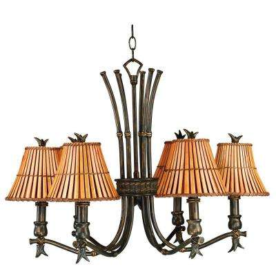 Kwai 6-Light Bronze Heritage Chandelier
