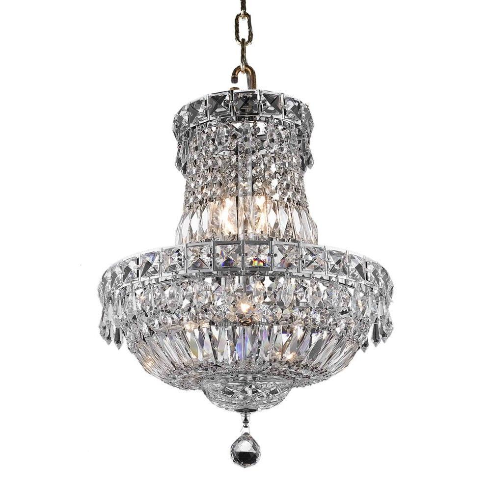 Elegant Lighting 6-Light Chrome Chandelier with Clear Crystal