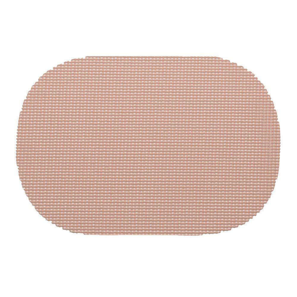 Kraftware Fishnet Oval Placemat in Taupe (Set of 12)
