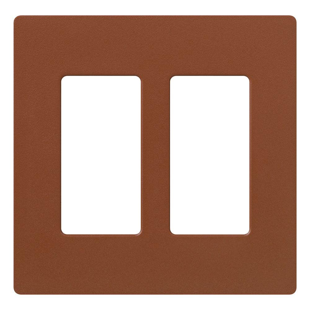 Claro 2 Gang Decorator Wallplate, Sienna