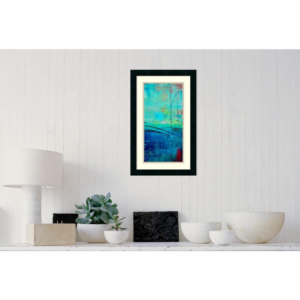 15 in. W x 24 in. H 'Venice Beach II' by Erin Ashley Printed Framed Wall Art