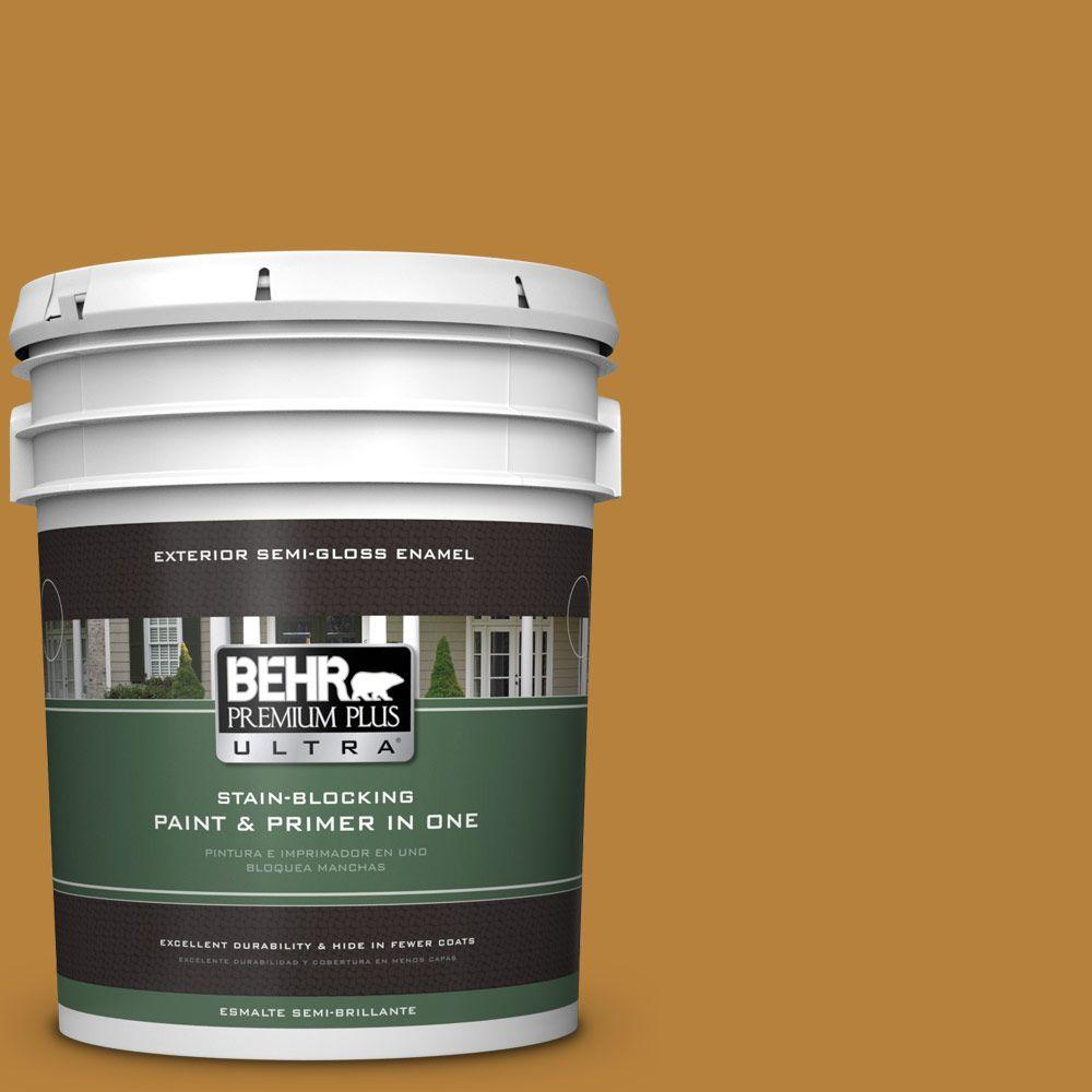 BEHR Premium Plus Ultra 5-gal. #S-H-330 Honeysuckle Blast Semi-Gloss Enamel Exterior Paint
