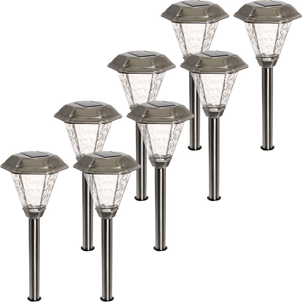 Adonis Solar Powered Integrated LED Stainless Steel Path ...