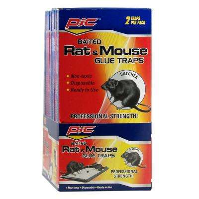 Baited Rat and Mice Glue Traps (24-Pack)