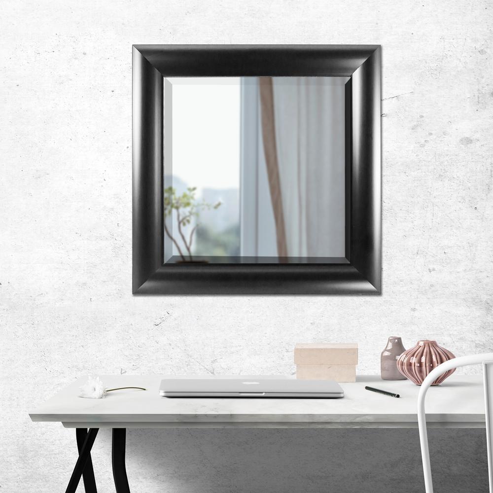 Leighton Square Black Vanity Mirror