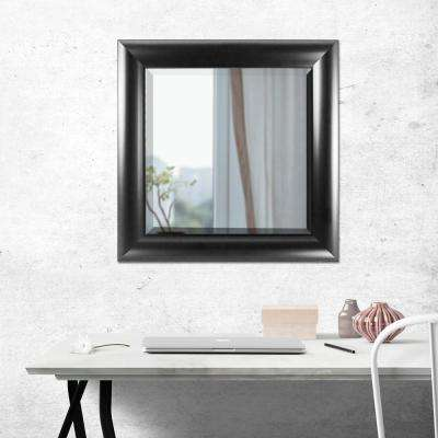 Leighton Square Black Vanity Mirror