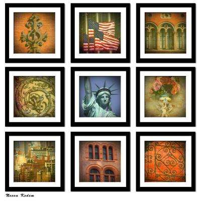 "Nine 10 in. x 10 in. ""New York State of Mind"" by Neeva Kedem Framed Printed Wall Art"