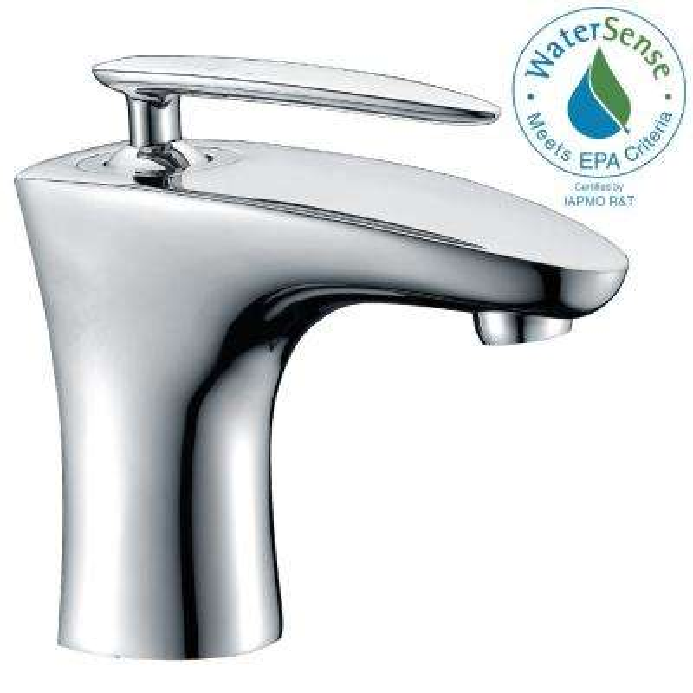 Tone Series Single Hole Single-Handle Low-Arc Bathroom Faucet in Polished Chrome