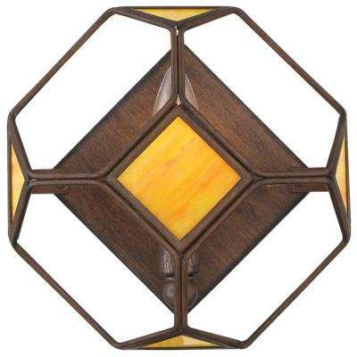 Rogue Decor Cubert 1-Light Rustic Bronze Cube Wall Sconce