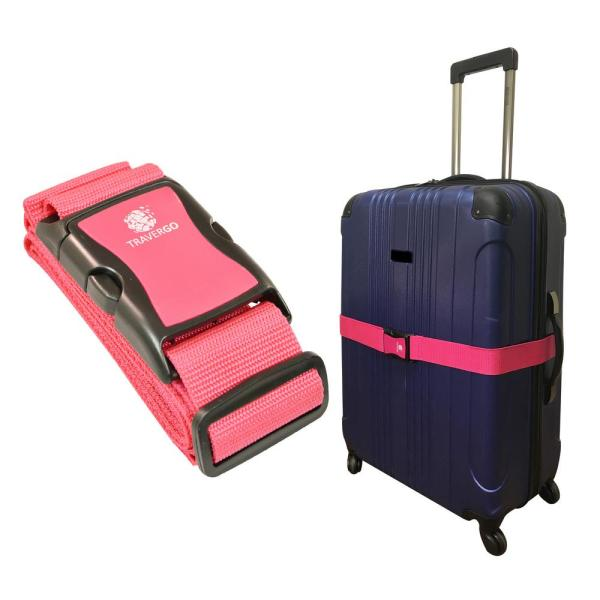 fa7491010 Go Green Power Luggage Strap Solid Color in Pink TR1200PK - The Home ...