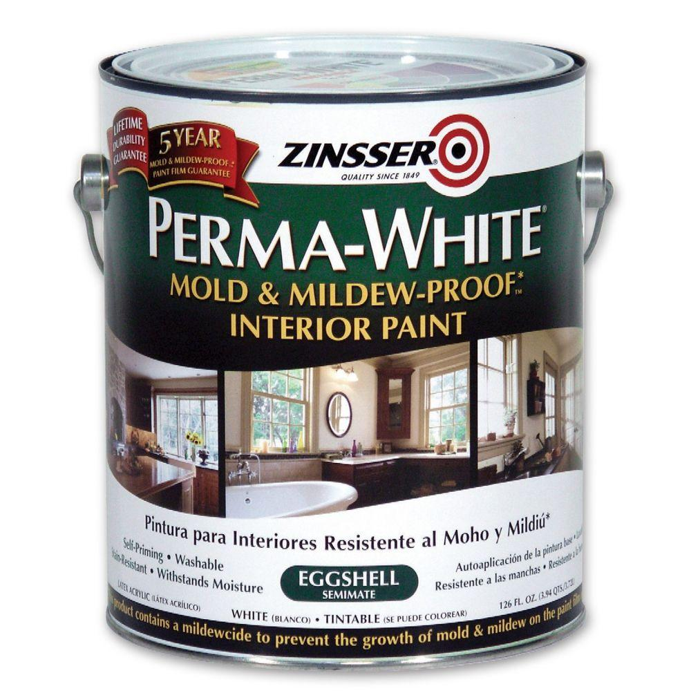 Zinsser Perma-White 1 gal. Mold & Mildew-Proof Eggshell Interior Paint (2-Pack)