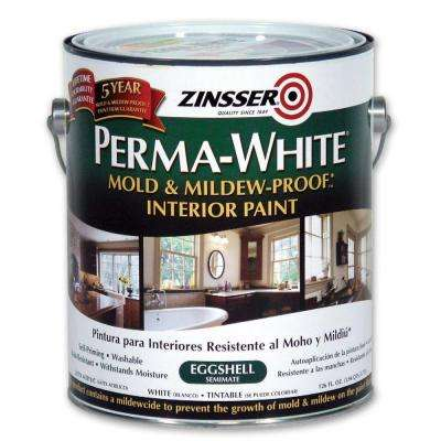 1 gal. Perma-White Mold and Mildew-Proof Eggshell Interior Paint (Case of 2)
