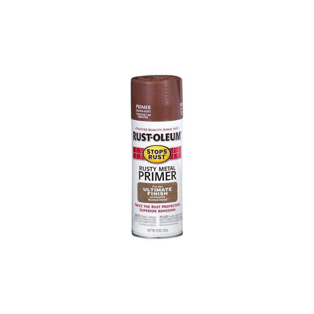 Rust-Oleum Stops Rust 12 oz. Flat Rusty Metal Primer Spray (6-Pack)