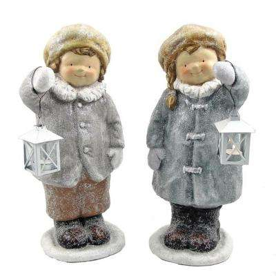 Standing Tushkas Holding Lanterns Set of 2