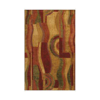 Picasso Wine Multi 6 ft. x 9 ft. Area Rug
