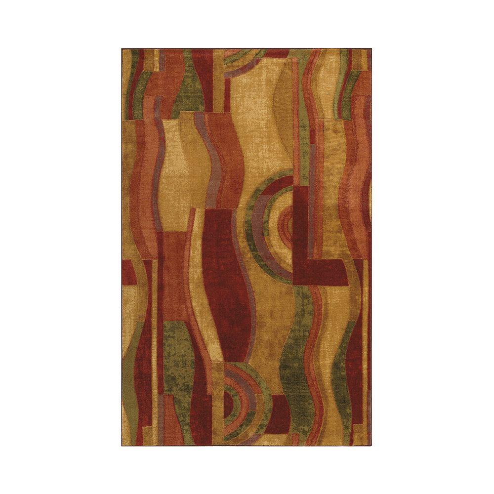 Picasso Wine Multi 6 ft. x 9 ft. Indoor Area Rug