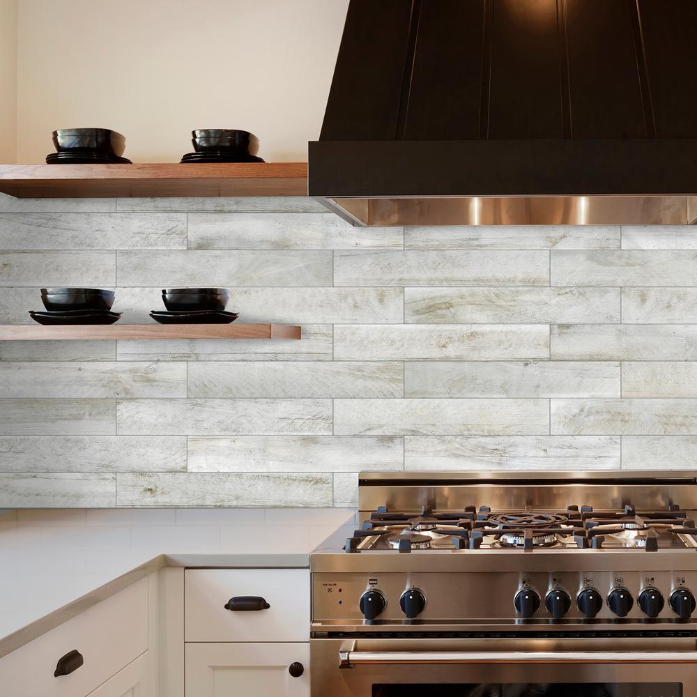 Smart Tiles Norway Bleached 22 56 In W