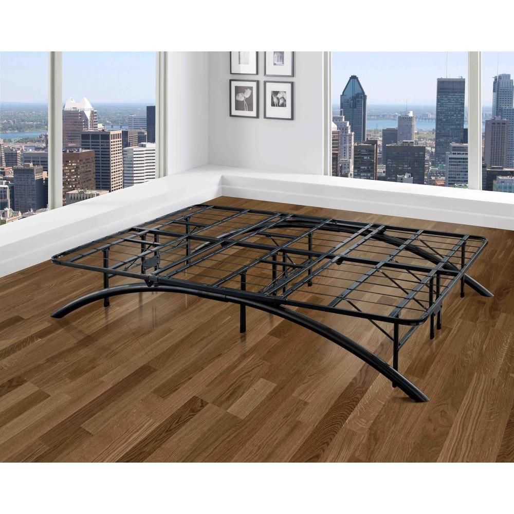 Cal-Size King Dome Arc Platform Bed Frame in Black