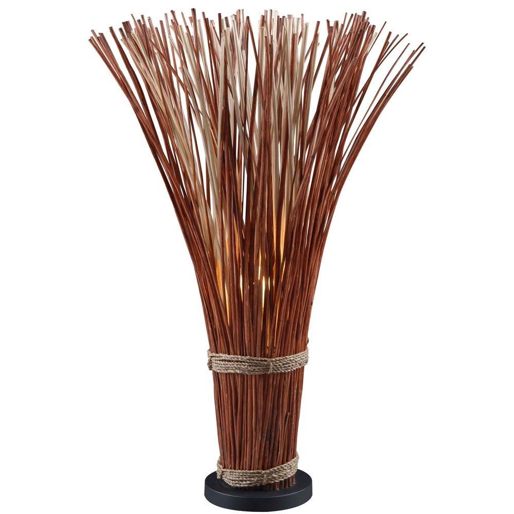 Sheaf 46 in. Natural Reed Floor Lamp