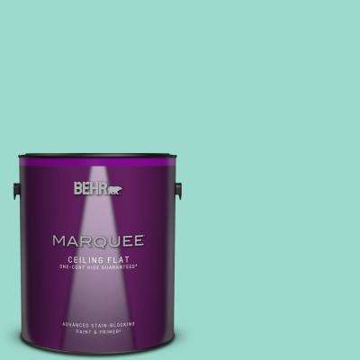 1 gal. #P440-3 Fish Pond One-Coat Hide Ceiling Flat Interior Paint and Primer in One