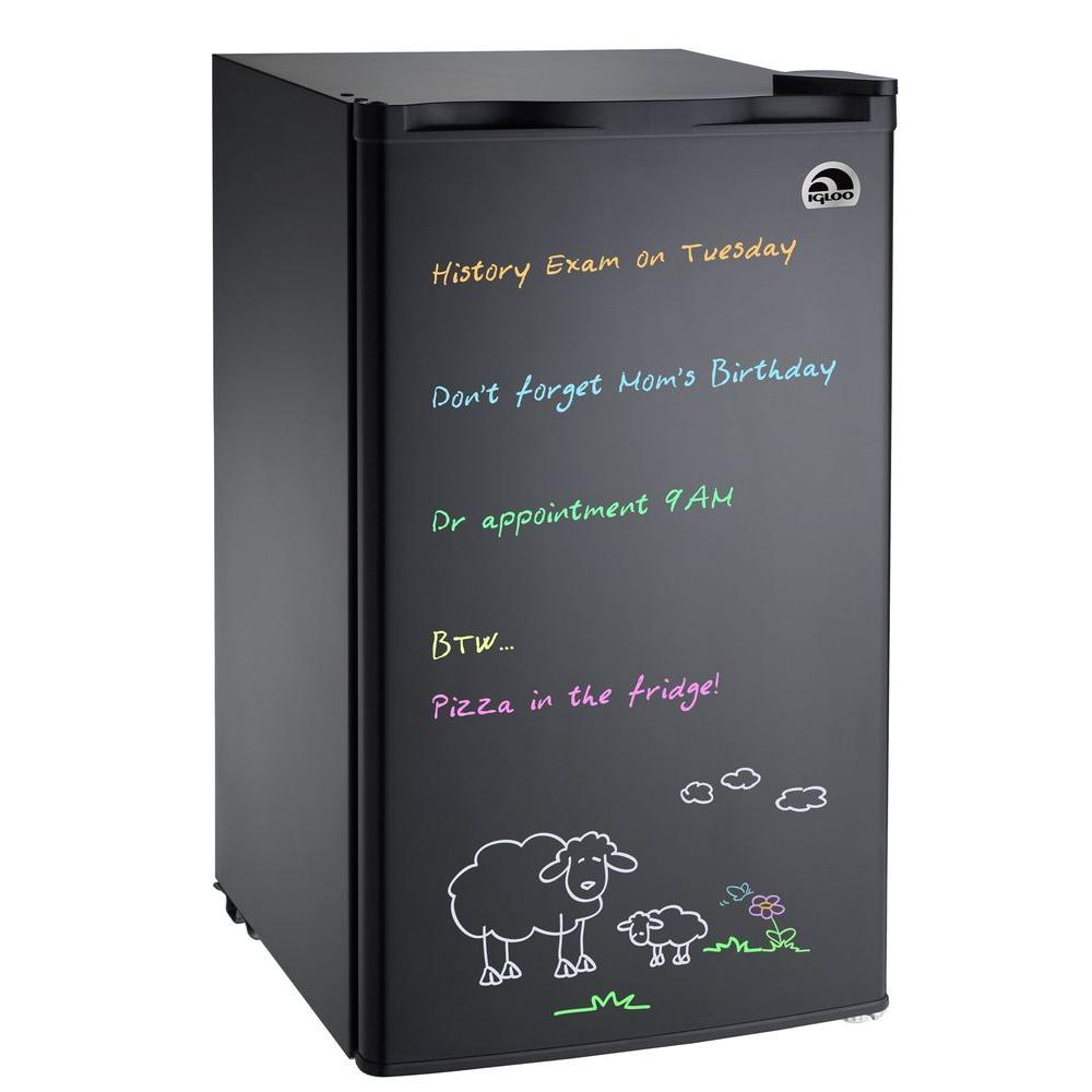 Igloo 3 cu. ft. Eraser Board Mini Refrigerator in Black