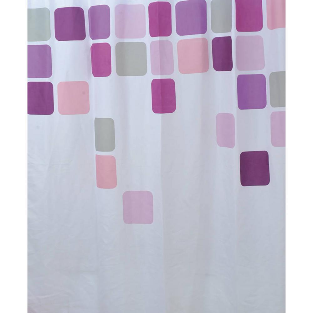 Vitamine 71 in. x 79 in. Multicolored Bath Printed Shower Curtain