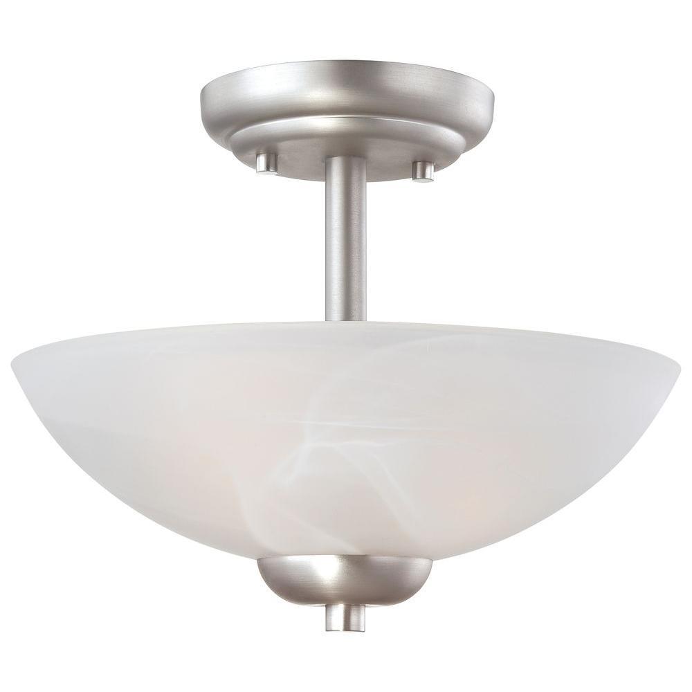 Tia 2-Light Matte Nickel Pendant