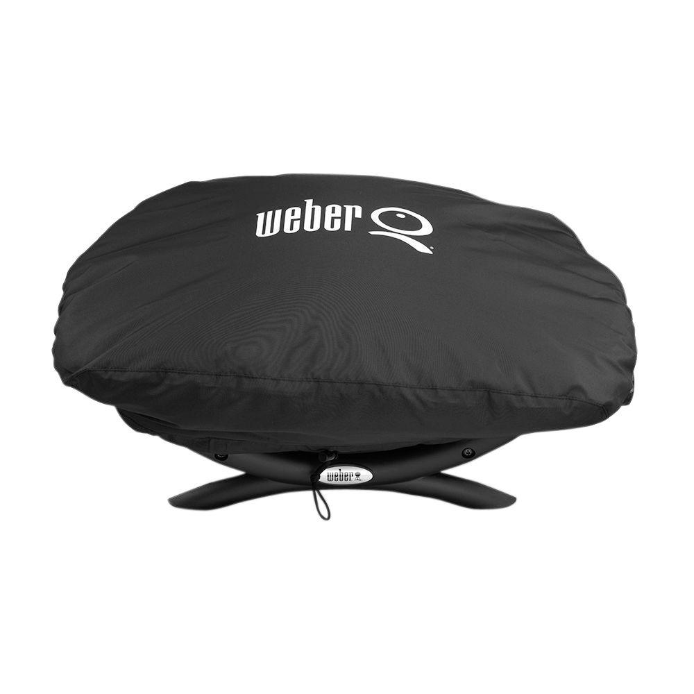 weber baby q q 100 1000 gas grill cover 7110 the home depot. Black Bedroom Furniture Sets. Home Design Ideas