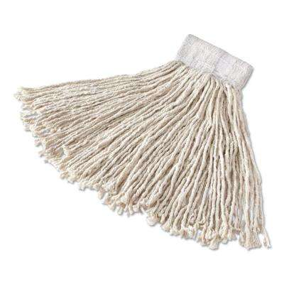 Large White Super-Stitch Cotton Mop Head with 1 in. Red Headband (Case of 6)