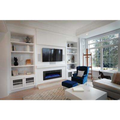 Allure Phantom 50 in. Wall Mount Electric Fireplace with Mesh Screen