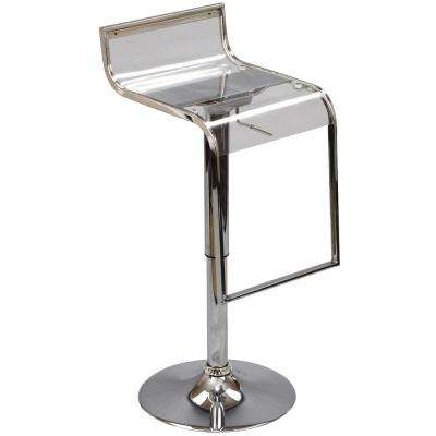 LEM 23 in. Clear Acrylic Bar Stool