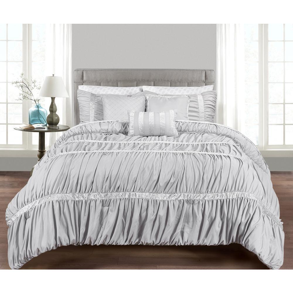 Morgan Home MHF Home Francis 10-Piece Grey Queen Comforter Set M592362
