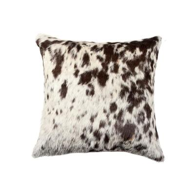 Torino Cowhide S&P Multicolored Animal Print 18 in. x 18 in. Throw Pillow