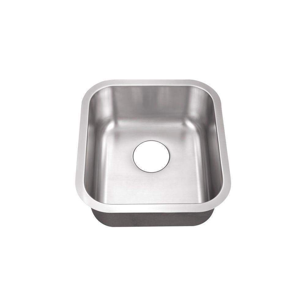 Marvelous Belle Foret Undermount Stainless Steel 16 In. 0 Hole Single Bowl Kitchen  Sink BFSB708   The Home Depot
