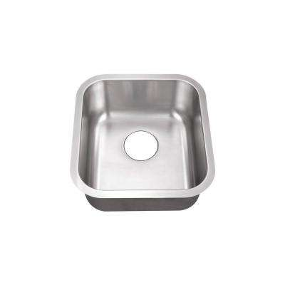 Undermount Stainless Steel 16 in. 0-Hole Single Bowl Kitchen Sink