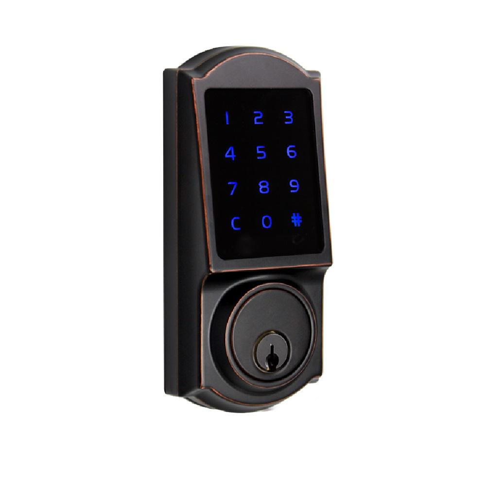 Castle Aged Bronze Touchscreen Single Cylinder Electronic Deadbolt