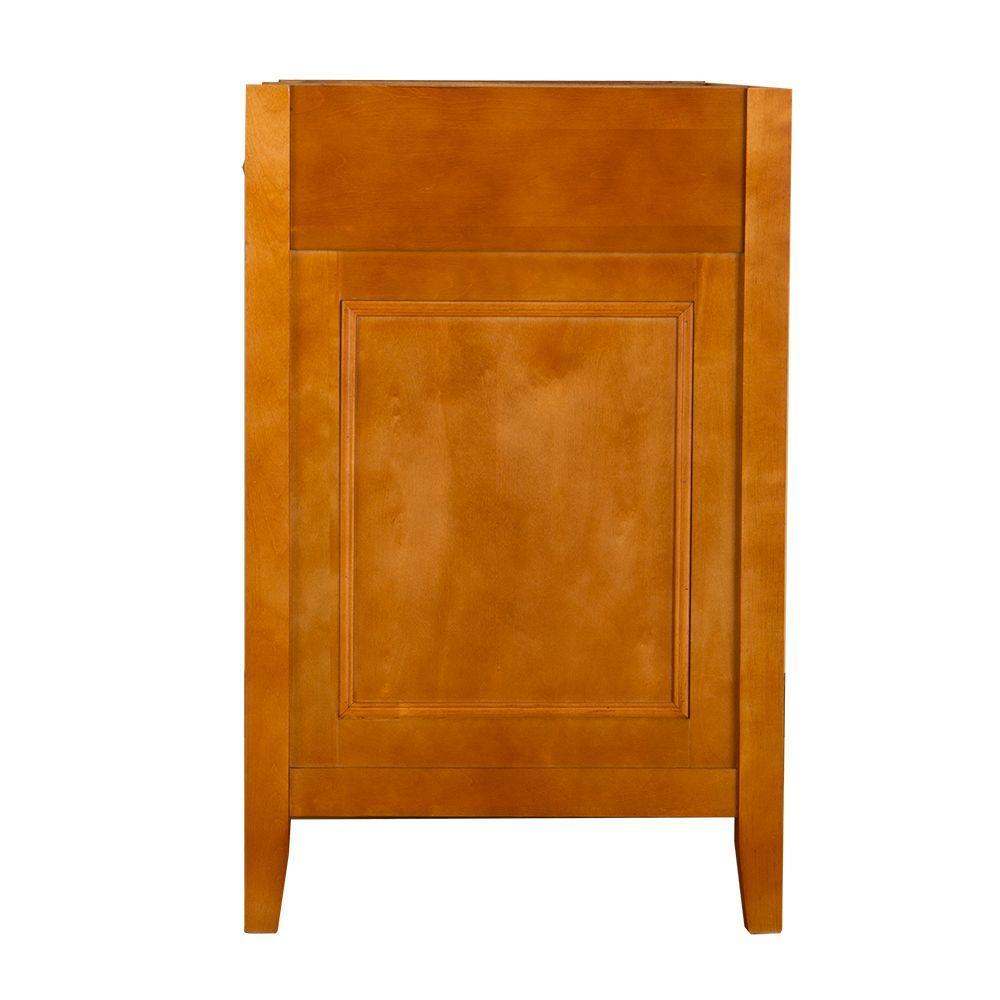 Exhibit 37 in. W x 22 in. D Bath Vanity in Rich Cinnamon with Granite Vanity Top in Golden Hill