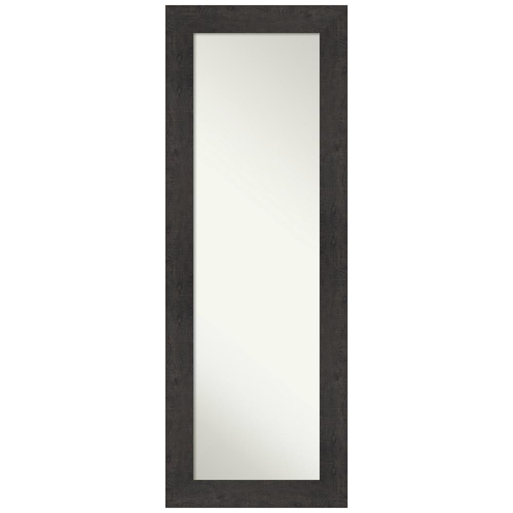 Large Rectangle Distressed Brown/Tan Modern Mirror (53.38 in. H x 19.38 in. W)