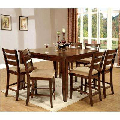 Priscilla I 7-Piece Antique Oak Bar Table Set