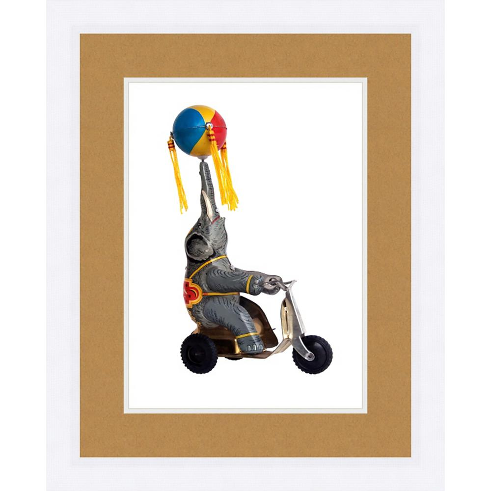 "21 in. x 17 in. ""Toy Monkey"" Framed Giclee Print Wall"