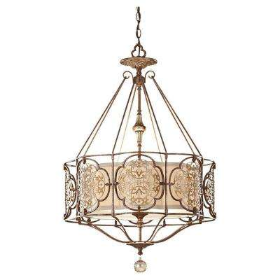 Marcella 3-Light British Bronze/Oxidized Bronze Large Pendant