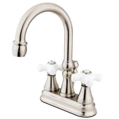 Governor 4 in. Centerset 2-Handle Bathroom Faucet in Brushed Nickel