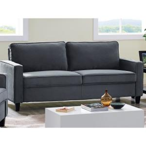Lifestyle Solutions Garren Microfiber Sofa with Track Arms ...